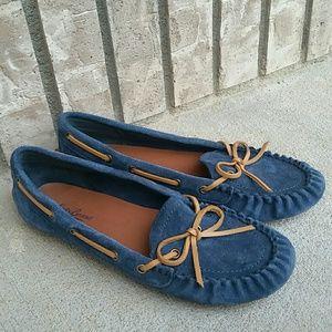 Lucky Brand moccasin leather slipper shoe women's